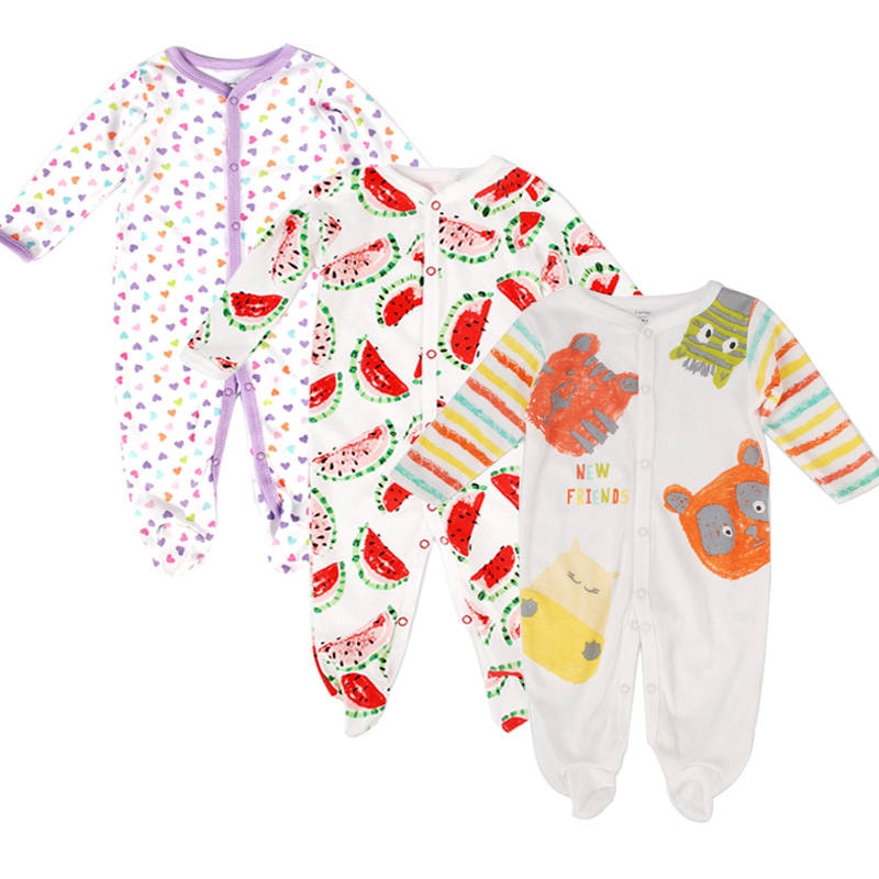 3pcs/lot Cotton Fashion Baby Romper Clothing Body Suit Newborn Long Sleeve Boy Girl Rompers Baby Jumpsuit Clothes Roupa Infantil penguin fleece body bebe baby rompers long sleeve roupas infantil newborn baby girl romper clothes infant clothing size 6m