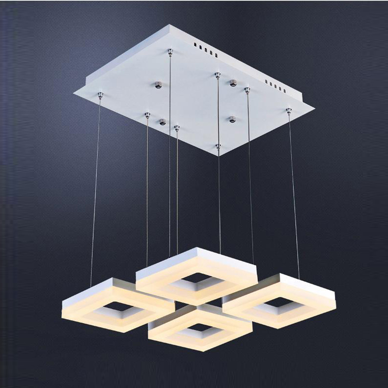 Commercial Led Office Lighting: Study Room Sqare Led Suspension Luminaire Hanging Lamp
