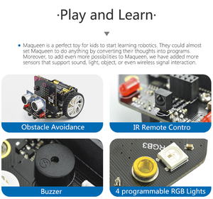 Image 5 - Micro: Maqueen Smart Car V4.0 Version for micro:bit Graphical Programming Robot Mobile Platform (without micro:bit Board)