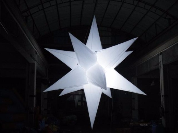 popular wedding decor inflatable luminous led star shape balloon with remote control in Inflatable Bouncers from Toys Hobbies