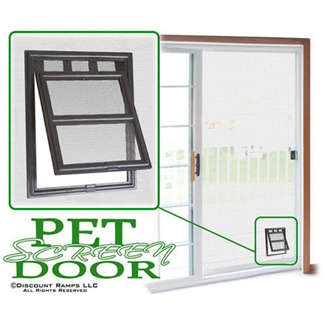 Pcs En Plastique Porte Pour Chiens Chat Kitty Noir Pet Chien Porte - Porte pour chien