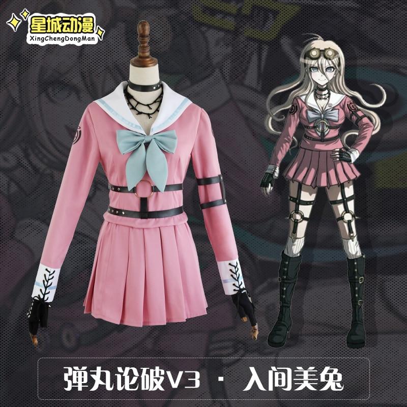 Danganronpa V3 Killing Harmony Iruma Miu Cosplay Costume Formal Occasion Party Fancy Dress  Women Beautiful Dress
