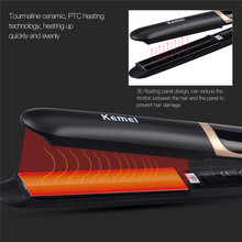 Wholesale prices Infrared Hair Care Iron LED Display Hair Straightener Straightening Flat Iron Corrugated Hair Curler Crimper Waver Hair Treament