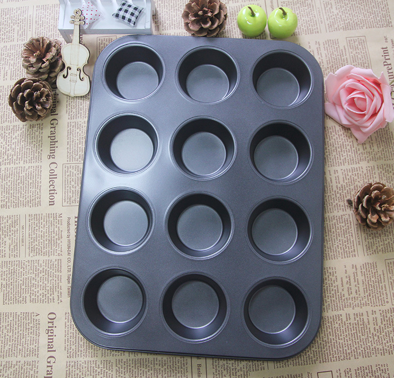 12 cup non stick muffin cake mold egg tart mould Mini Cheesecake Pan baking tools