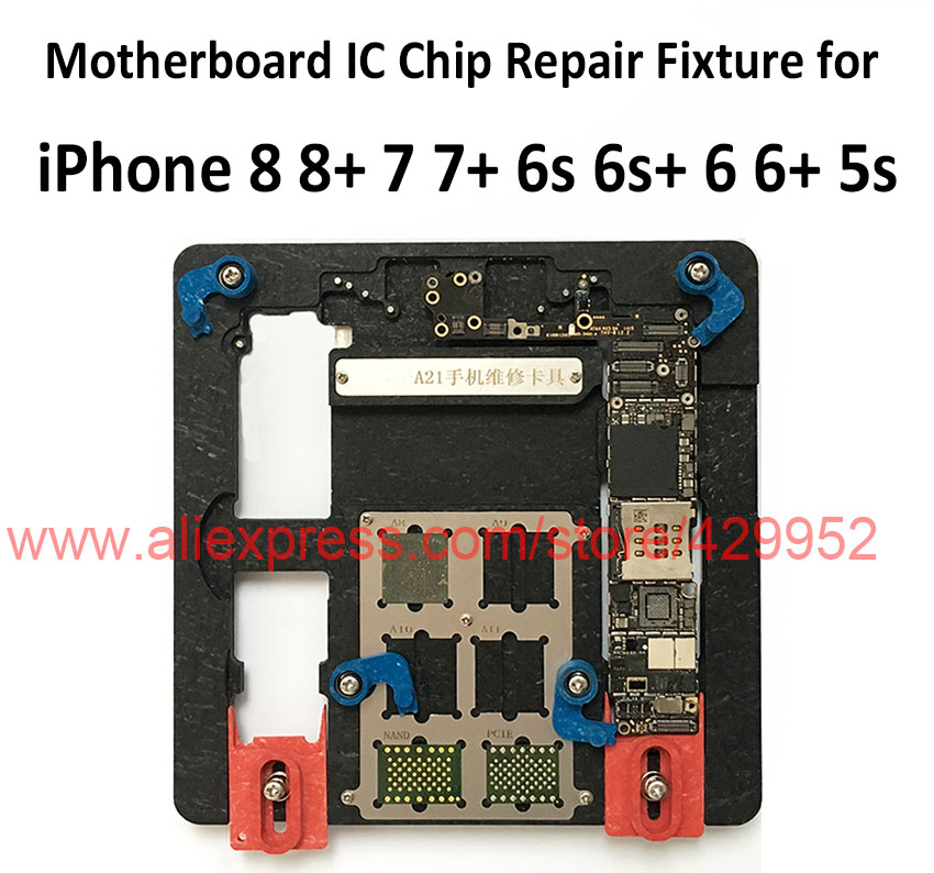 9 in 1 Logic Board Clamps High Temperature Weight Main Motherboard PCB Holder for iPhone 8+ 7+ 6s+ 6+ 5S Fix Repair Mold Tool replacement main board pc motherboard for 2019 in 1 game family pcb spare parts replace main board for 2019 in 1 multi game box