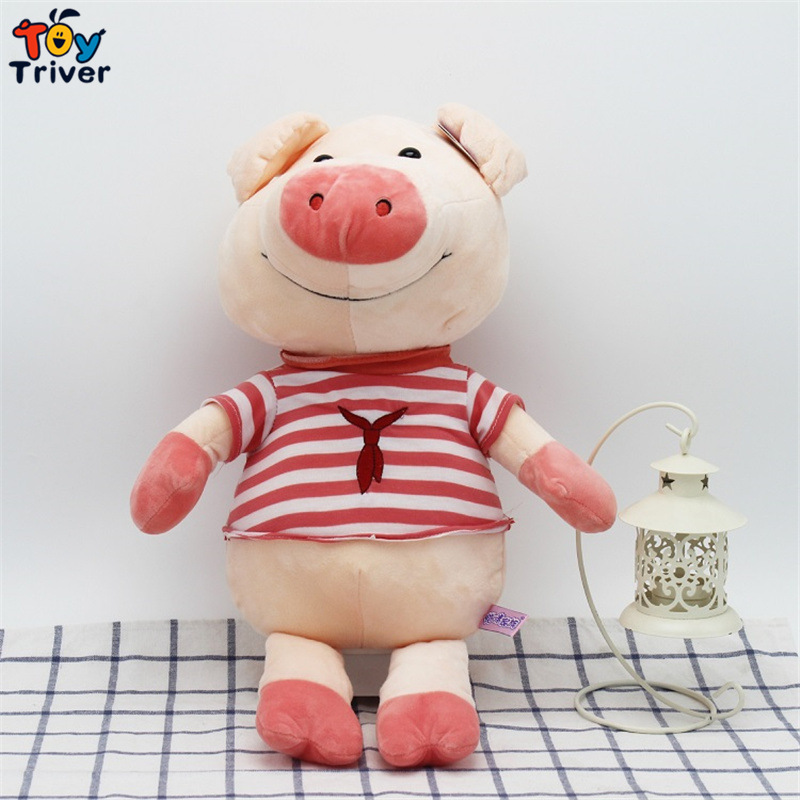 30/40cm Kawaii Plush Pig Toy Stuffed Animal Blue Red Pigs Doll Baby Kids Children Birthday Christmas Gift Home Shop Decor Triver