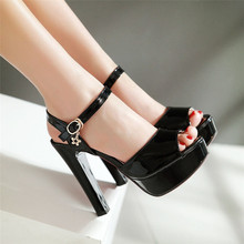 Summer Pumps Women Peep Toe High Heels Party Wedding Platform Gladiator Sandals Woman High Heel Shoes Plus Size 34-40.41.42.43