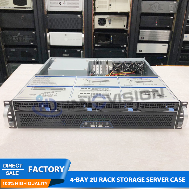 Image 3 - Flexible Ultra short 2U case L=400mm huge storage 4bays hotswap 2U rack server chassis for firewall/NVR-in Industrial Computer & Accessories from Computer & Office