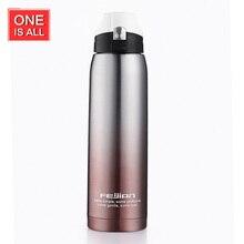 ONEISALL 750 ML Outdoor Reise Thermoskanne Tasse Portable Edelstahl Isolierflasche Isolierung Gradient Sport Wasserflasche Schloss Offen