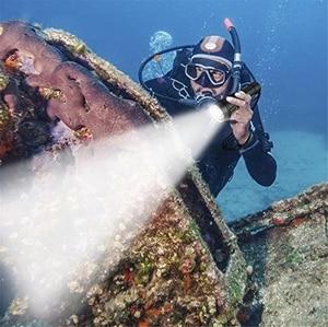 Image 5 - الغوص Scub مضيا XML T6 L2 الغوص LED الشعلة مصباح 200 متر تحت الماء مقاوم للماء المهنية الغوص بواسطة بطارية 2*18650