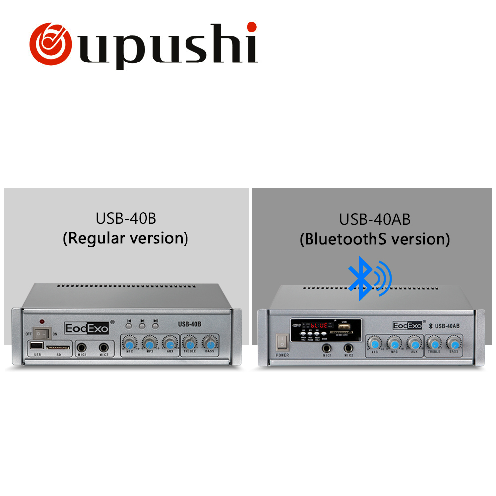 Oupushi Mini Bluetooth Mischverstärker 40 Watt Zuhause Sound Audio PA Sd-karte, USB Amp Mit Deckenlautsprecher, wand Lautsprecher