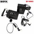 Беспроводная петличный микрофон BOYA BY-WM5 для цифровых зеркальных камер Canon Nikon Sony