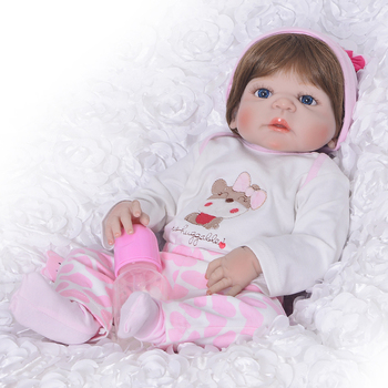 "KEIUMI Wholesale Reborn Girl Dolls 23"" 57 cm Girl So Truly Realistic Baby Doll Toy Full Silicone Body Waterproof Kids Playmates"