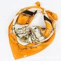 2017 Новый Дизайн Чистого Шелка Женщины Шелковые Шарфы Женщина Шарф мини Площади Моды Brit Стиль Элегантные Украшения Для Весна Осень SY