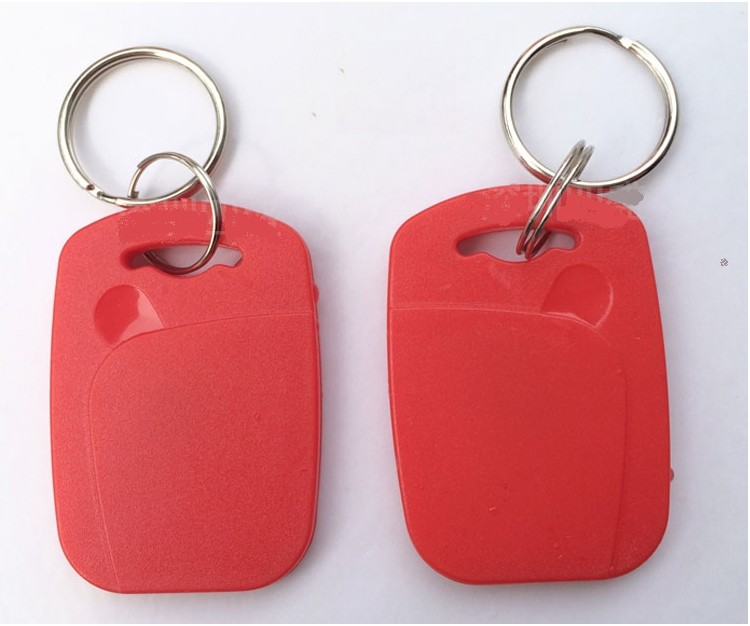 No 1 100pieces RFID IC Key Tags Keyfobs Token NFC TAG Keychain 13.56MHz For Arduino Android(Blue, Red, Yellow)