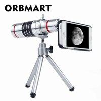 Orbmart Aluminum 18X Optical Zoom Telescope Camera Lens For Samsung S6 S6 Edge Plus S7 S7