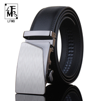 LFMB Fashion Style Nice Quality Luxury Brand Mens Genuine Leather Belts For Men Strap Male