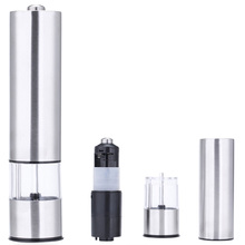 Electric Stainless Steel Pepper Spice Salt Mill Grinder Kitchen Tool Pepper Herb Mill Grinder Seasoning Mill Cooking Tool