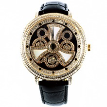 MATISSE Fashion Austria Crystal Rotatable Dial Lady Women Buiness Quartz Watch Wristwatch