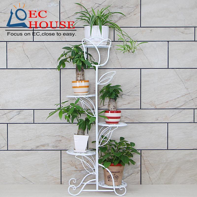 ФОТО Multilayer iron flower special offer European style balcony living room floor flowerpot shelf indoor green Chlorophytum a few si