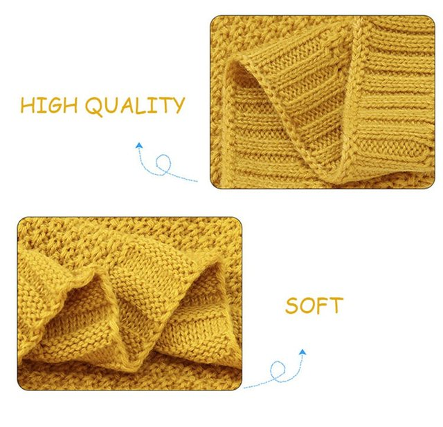 MOTOHOOD Kids Blanket Casual Baby Blankets Knitted Newborn Swaddle Wrap Soft Toddler Sofa Crib Quilt Baby Stroller Blanket (14)