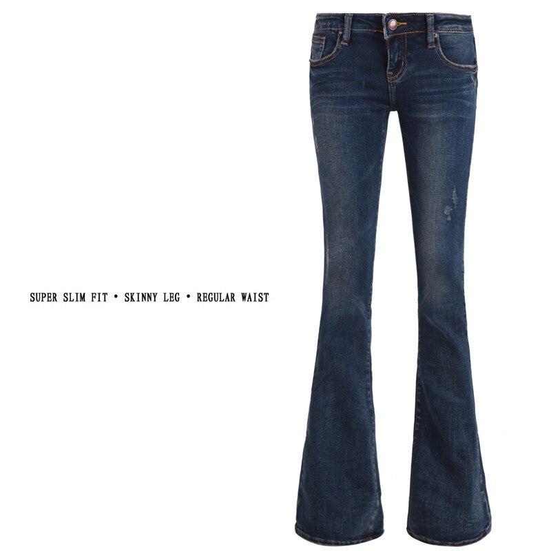 Aliexpress.com : Buy Fashion bell bottom jeans female vintage long