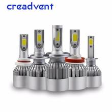 2 Pcs 60w 8000lm COB LED H4 H7 H1 H11/8/9 9005 9006 Hb3 Hb4 H3 Car Headlight Bulb Auto Headlamp Light 12V 6000K White dianzi h4 50 60w 1000 1300lm 5300k white light halogen car headlamp 12v 2 pcs