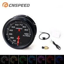 Бесплатная доставка CNSPEED 2 »52 мм Авто Датчик давления масла 0-100Psi 7 Cplors светодиодный свет с масляным прессом сенсор измеритель давления масла