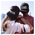 Baseball Cap KING QUEEN Hats Black Men Women Sun Hats Flat brim LOVER Hip Hop Caps Snap back Adult Custom Hats Adjust Head Size