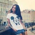 Engraçado dos desenhos animados mickey t shirt mulheres curto-manga tshirt camiseta mulher ocasional magro sexy t-shirt camisetas mujer tumblr t-f10984