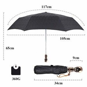 Image 2 - Creative Skull Handle Big Umbrella Men Automatic 3Folding Punk Retro Umbrella Rain Women High Quality Printed Umbrella For Gifts