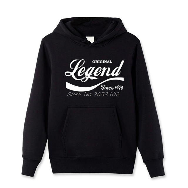 Fashion Legend Since 1976 Hoodies Funny 41st Birthday Gift Dad Husband Brother Cotton Men Hoody Brand