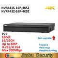 Dahua P2P NVR 레코더 NVR4416-16P-4KS2 NVR4432-16P-4KS2 16Ch 32CH 명 1.5U H.265 4K 16PoE 포트 8MP 업그레이드
