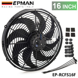Epman Racing-ventilateur électrique universel de radiateur refroidisseur d'huile, lames incurvées, 12V, 16 pouces, EP-RCFS16F