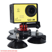 Mini Lightweight Low Angle Tripods Sucker+Screw Connector for GoPro Hero 5 4 3 SJCAM SJ5000X SJ4000 SJ6 Yi Sports Action Camera