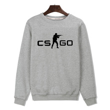 CS GO Black/Gray Mens Hoodies and Sweatshirts 2016 with Cotton Men Print Harajuku Sweatshirts in Incridible Quality 3XL