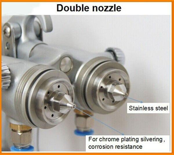 SAT1189 vernice spray poliestere due doppi ugelli in poliuretano - Utensili elettrici - Fotografia 3