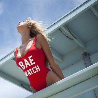 2016 hot BAE WATCH red bodysuit swimwear one piece swimsuit Jumpsuits Costume sexy padded swimwear WOMEN letter printing 9colors bae watch bodysuit swimwear padded red monokini letters rompers womens jumpsuit costume sexy maillot de bain drop ship