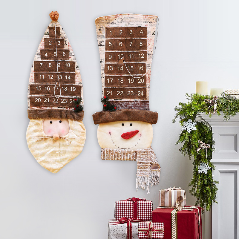 Santa claus father countdown christmas advent calendar for House decoration products