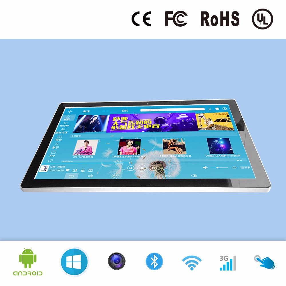23.6 Inch Frameless All In One PC With Core I7 CPU 16GB Ram 2TB HDD 512G SSD Wifi Bluetooth AIO Deskptop