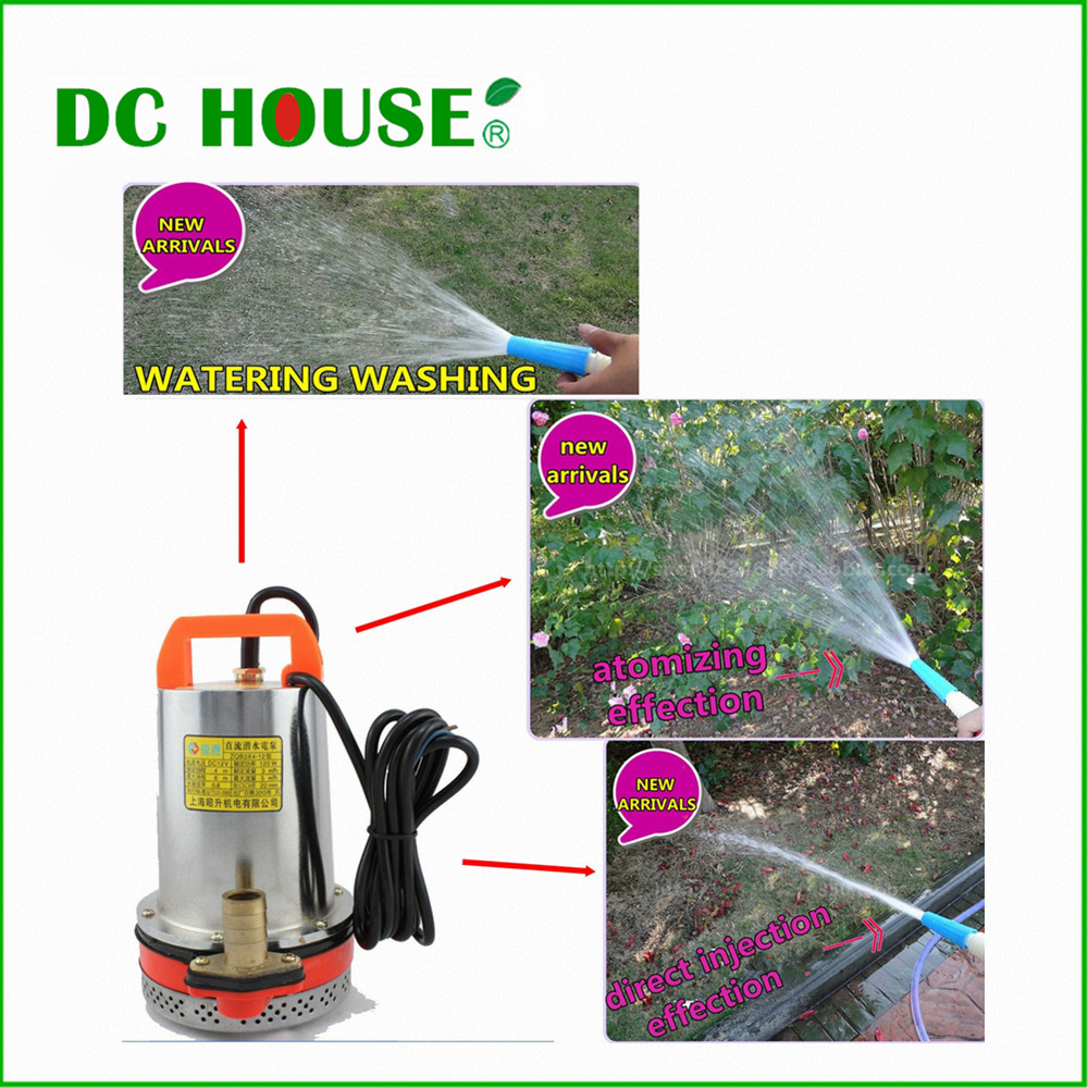 12VOLT DC SOLAR PUMP 12V DC Pump Submersible Fountain Pump for Watering Washing 51mm dc 12v water oil diesel fuel transfer pump submersible pump scar camping fishing submersible switch stainless steel