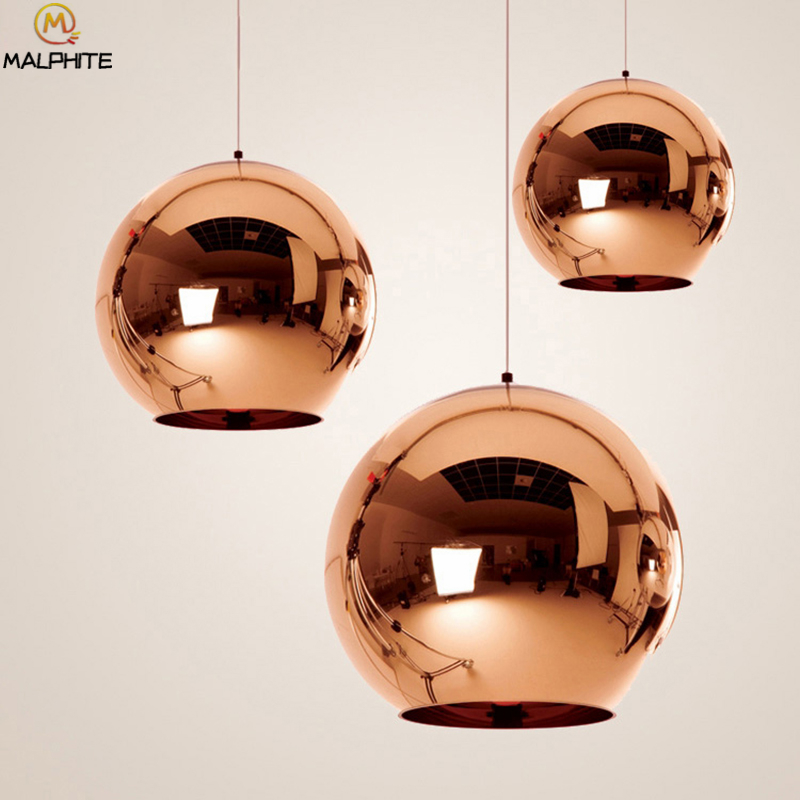 Modern Nordic Pendant Light Plated Ball Living Room Bedroom Kitchen Fixtures Pendant Lamp Cafe Bar Industrial Lighting LuminaireModern Nordic Pendant Light Plated Ball Living Room Bedroom Kitchen Fixtures Pendant Lamp Cafe Bar Industrial Lighting Luminaire