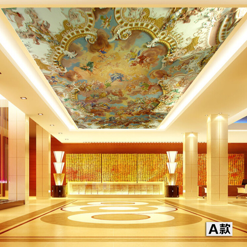 3D Large Custom Wallpapers Mural Ceiling Zenith High Quality European Painting Hotel Bar KTV Clubs Ceiling Floor Wall paper кольца nina ricci nr 702070911100