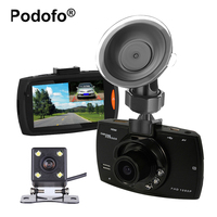 Podofo Dual Lens G30 Car DVR FHD 1080P Video Recorder Registrator with Backup Rearview Camera Camcorder Night Visions Dashcam