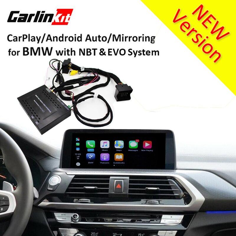 Module d'interface de caméra de recul Carlinkt pour BMW X3 X4 X5 avec système NBT 8.8 ''/10.2'' Solution automatique Android