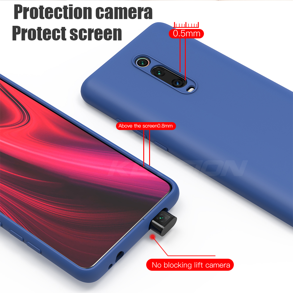 Image 5 - KEYSION Liquid Silicone Case for Xiaomi Mi 9T Pro Redmi K20 Pro Soft TPU Shockproof Coque Phone Cover For Xiaomi Mi 9T Mi 9 9 SE-in Fitted Cases from Cellphones & Telecommunications