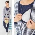 Одежда для ухода пижамы комплект весна и осень беременным кормящих одежда для беременных