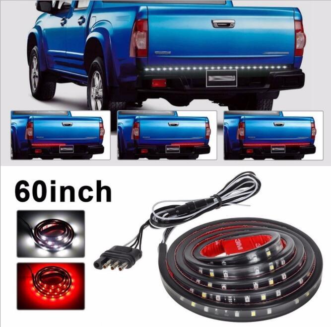 49 Flexible LED Car Truck Tailgate SUV RV Light Bar Red and White 12V 72LED Running/Brake/Reverse/Signal/Rear Strip Light Lamp