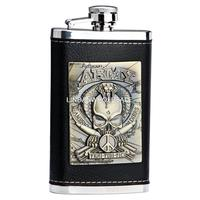 High Quality 304 Stainless Steel Flask Portable Liquor Bottle Hip Flask Leather 5 Ounce Whisky Hip