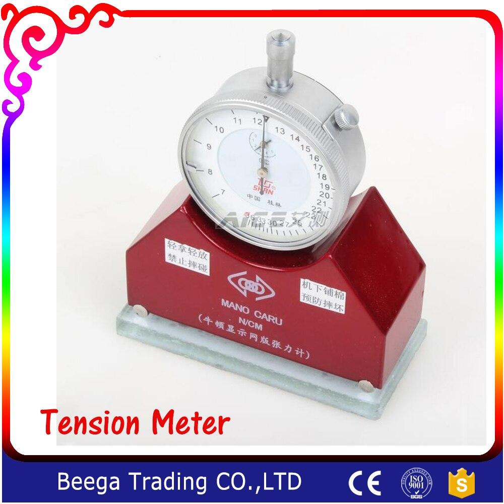 Nouveau produit sérigraphie maille Tension compteur précis jauge de Tension outil de mesure en soie imprimé 7-50N